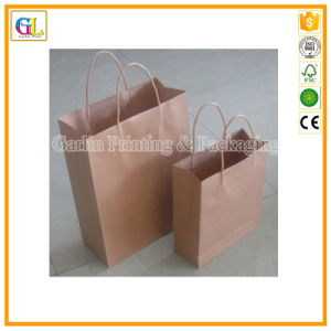 Custom Paper Carrier Bag in Kraft Paper with Paper String pictures & photos