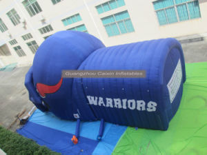 2017 Promotion Football Inflatable Helmet Tunnel for Sports Game pictures & photos