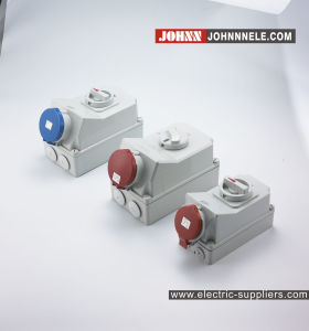 IP67 3p 32A Socket with Switches and Mechanical Interlock pictures & photos