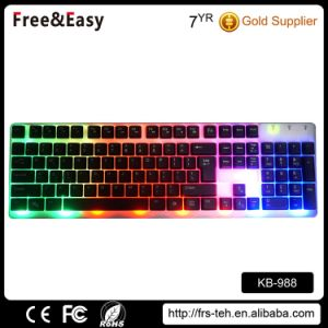 Newest Rainbow LED Backlit USB Wired Computer Keyboard pictures & photos