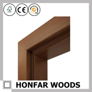 Building Material Dark Brown Wood Door Frame for Interior Decor pictures & photos