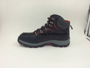 Black Leather High Cut Outdoor Working Boots pictures & photos