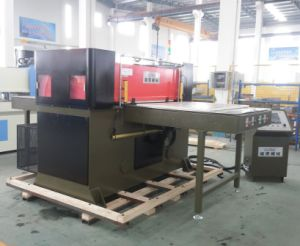 Double Side Automatic Feeding Cutting Machine for Plastic pictures & photos