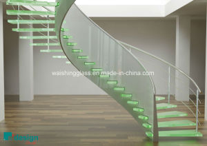 Clear/Colorful Tempered Laminated Glass Stairs with Igcc/ISO9001/CCC pictures & photos
