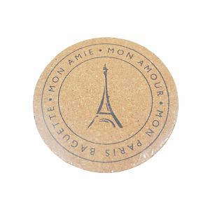 Printed Logo Cork Coasters for Cups pictures & photos