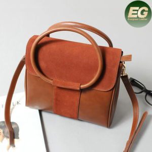 2017 Genuine Leather Suede Ladies Shoulder Bag High Quality Women Handbag Emg4887 pictures & photos
