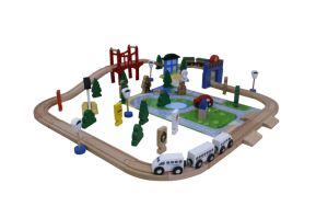 Hot Christmas Gift 80PCS Wooden Train Set Toy for Kids and Children pictures & photos