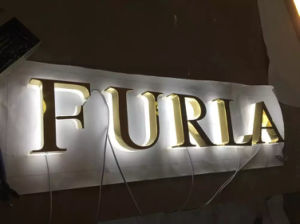 Aluminum Stainless Steel Brass Titanium Metal LED Illuminated Frontlit Backlit Halolit Channel Letter pictures & photos