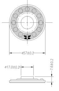 57mm 0.5W 8ohm Audio Mylar Car Mini Loudspeaker pictures & photos