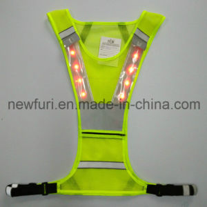 Waterproof Hi Vis LED Reflective Safety Vest for Road Safety pictures & photos