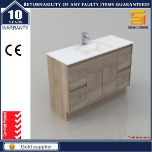 60′′ MDF Melaimine Single Sink Bathroom Cabinet Vanity pictures & photos