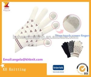 Top Quality Hot Selling Knit Jacquard Customized Touch Screen Gloves pictures & photos