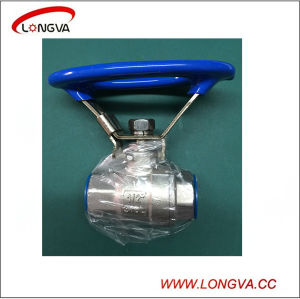 Stainless Steel 2PCS Threaded Oval Handle Ball Valve with Lock Device pictures & photos
