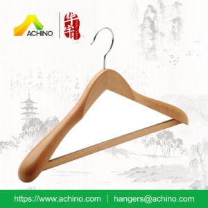 Luxury Beech Wood Coat Hanger for Men Garment (ABWH200) pictures & photos