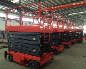 6-16m Electric Hydraulic Semi Electric Scissor Lift pictures & photos