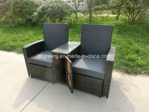 Gas Recliner Storage Sofa Set with Stool Rattan Furniture pictures & photos