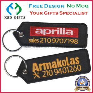 Factory Price Keyrings Embroidered Patch Key Chain with No Minimum pictures & photos