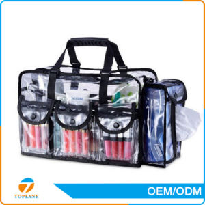 Many Size Hot Sale Clear PVC Makeup Transparent Cosmetic Bag, Transparent PVC Cosmetic Bags with Zipper pictures & photos