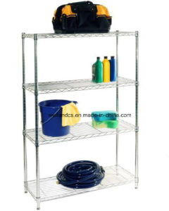 4 Tier Home Garage Storage Metal Wire Shelf Space Organizer pictures & photos