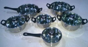 12PCS Capsuled Bottom Stainless Steel Cookware Set pictures & photos