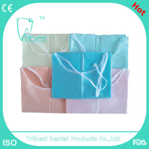 Disposable Colorful Waterproof Dental Bib pictures & photos