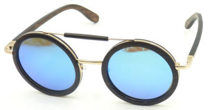 Fxw161384 New Design Quality Wooden Sunglass Round Frame Sun Glasses pictures & photos