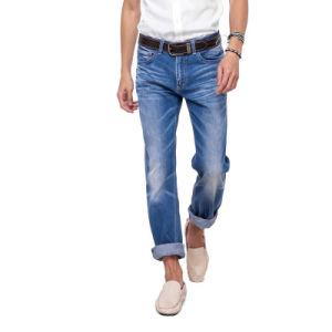 Wholesale Men Straight Jeans Blue Denim Jean Pants