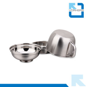 Large Capacity Stainless Steel Fast Food Bowl/Cup/Lunch Mug/Food Container with Bowl Shape Lid pictures & photos