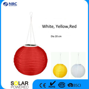 20cm Globe Solar Lantern Three Color Fairy Lantern for Outdoor Decoration pictures & photos