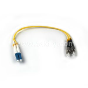 Good Price LC-FC Duplex mm Fiber Optic Patch Cord FC to LC Om1 Fiber Cables pictures & photos