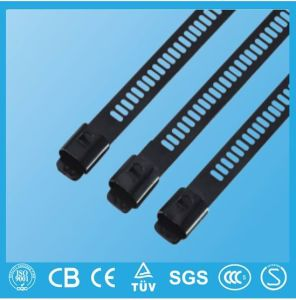 Multi Lock Ladder Type Epoxy Coated Stainless Steel Cable Zip Tie pictures & photos