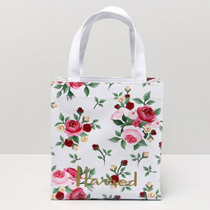 White PVC Canvas Rose Patterns Women Bag (H036-24) pictures & photos