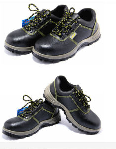 Genuine Leather High Quality Steel Toe Safety Shoes pictures & photos