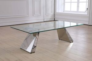 Newest Coffee Table with Simple Stainless Steel Base pictures & photos