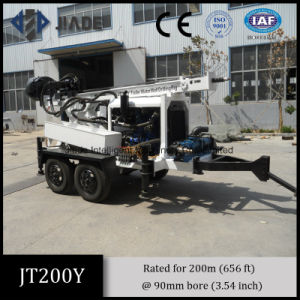 Jt200y Portable Trailer Mounted Small Drilling Rigs pictures & photos