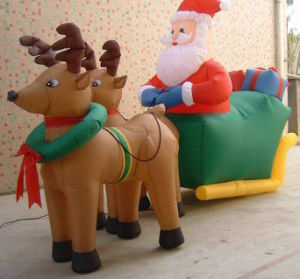 Inflatable Santa Claus with Reindeer pictures & photos