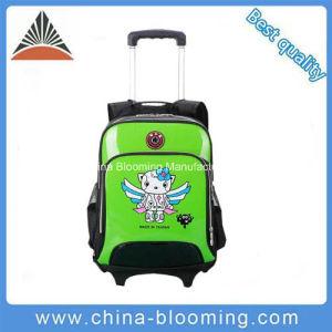 Children Waterproof Rolling Wheel Backpack Trolley School Bag pictures & photos
