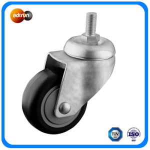 3-Inch TPU Wheel Ball Bearing Thread Stem Caster pictures & photos