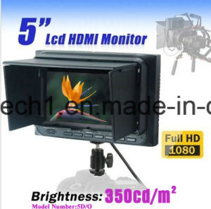 "5""LCD HDMI Monitor Support 1080 P with Sun Shade for Canon Nikon 5D D5100 DSLR pictures & photos"