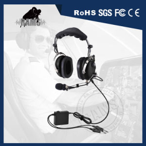 Anr Adjustable Metal Boom General Aircraft Headset with 360 Degree Rotstional for Left or Rgith Side pictures & photos