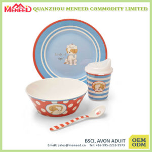 Selling Well Cartoon Design Food Grade Kids Dinner Set pictures & photos