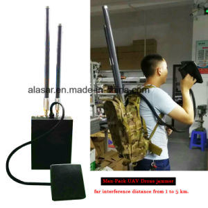 High Power Draw Bar Box 6 Channels Mobile Signal Jammer 300W Exspcially for Drone pictures & photos