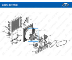 Hot Sale Original Yutong Radiator Cooling Fan of #600 #64 1308-00241 pictures & photos