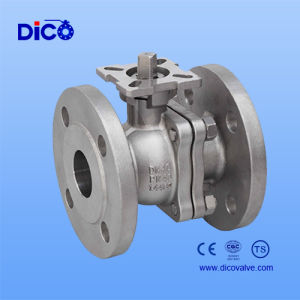 Dico DIN Pn40 2PC Flange Ball Valve with Investment Casting pictures & photos