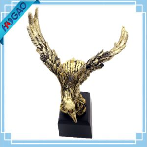 Wings of Glory Bald Eagle Bronze Electroplated Figurine with Base Resin Statue pictures & photos