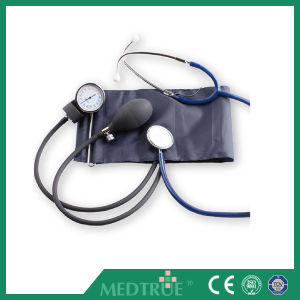 Ce/ISO Approved Medical Aneroid Sphygmomanometer with Single Head Stethoscope (MT01029025) pictures & photos