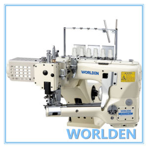 WD-62G-01MS-D 4 Needle 6 Threads Flat Seam, Single/Double Edge Cutter Feed-off-the-arm Sewing Machine pictures & photos