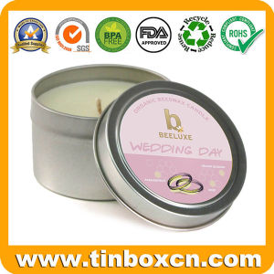 Round Travel Tin Box, Candle Tin, Metal Candle Container pictures & photos