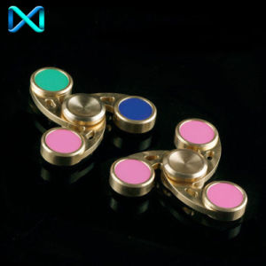 Fidget Hand Spinner Triangle Brass Finger Toy EDC Focus Adhd Autism Kids Adults pictures & photos