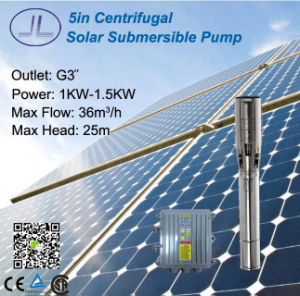 5inch Centrifugal Solar Power Submersible Pump, Solar Irrigation pictures & photos